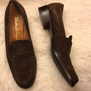 SALVATORE FERRAGAMO sport leather Italian loafers